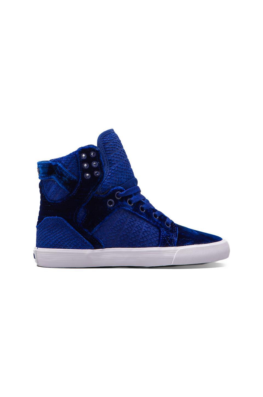 Supra Skytop Sneaker in Blue Velvet