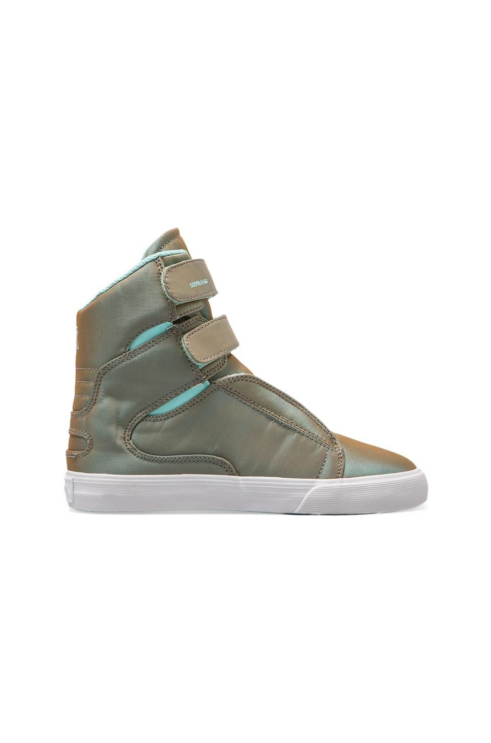 Supra Society Sneaker in Iridescent Turquoise