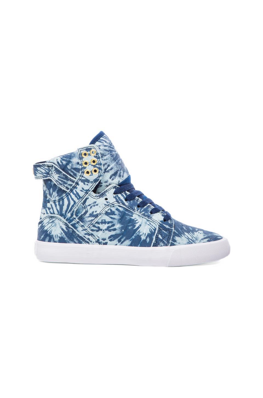 Supra Skytop Sneaker in Navy Suede Tiedye