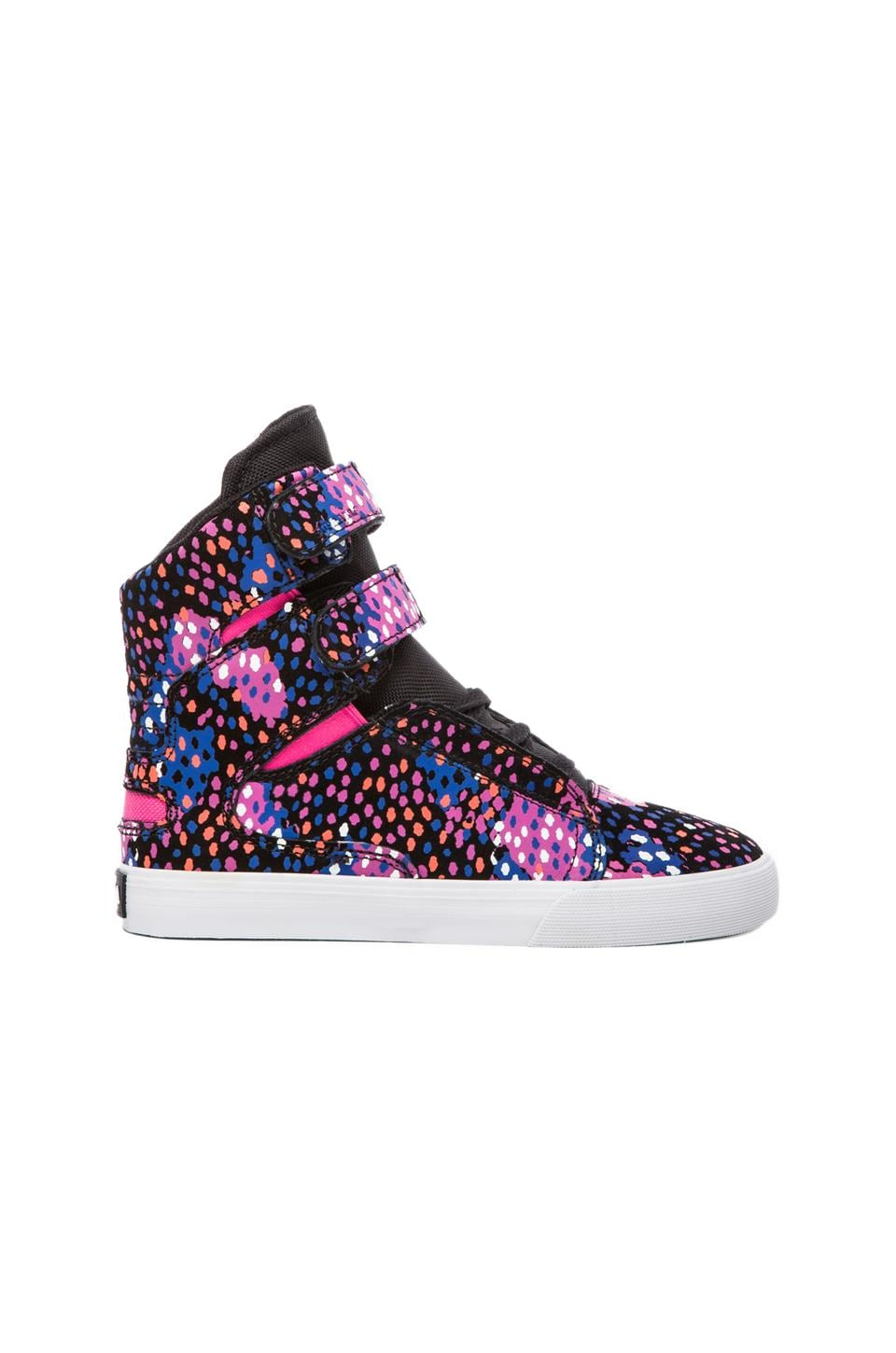Supra Society Sneaker in Pink/Blue/White
