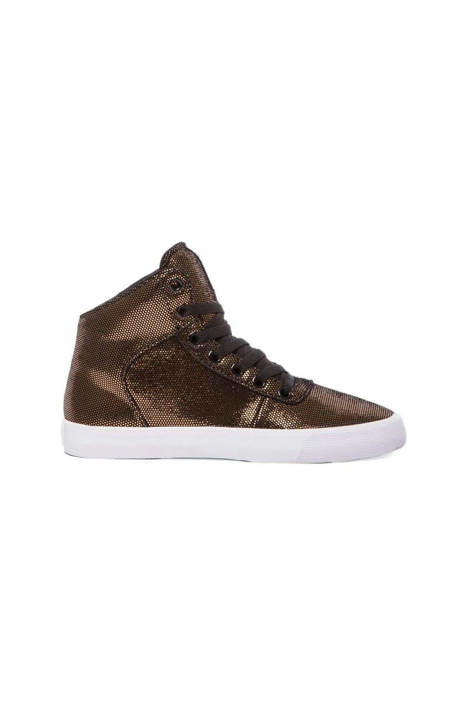 Supra Cuttler Sneaker in Black/Gold Suede