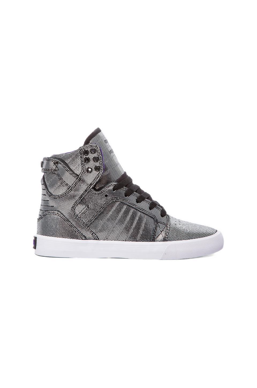 Supra Skytop Sneaker in Black Suede