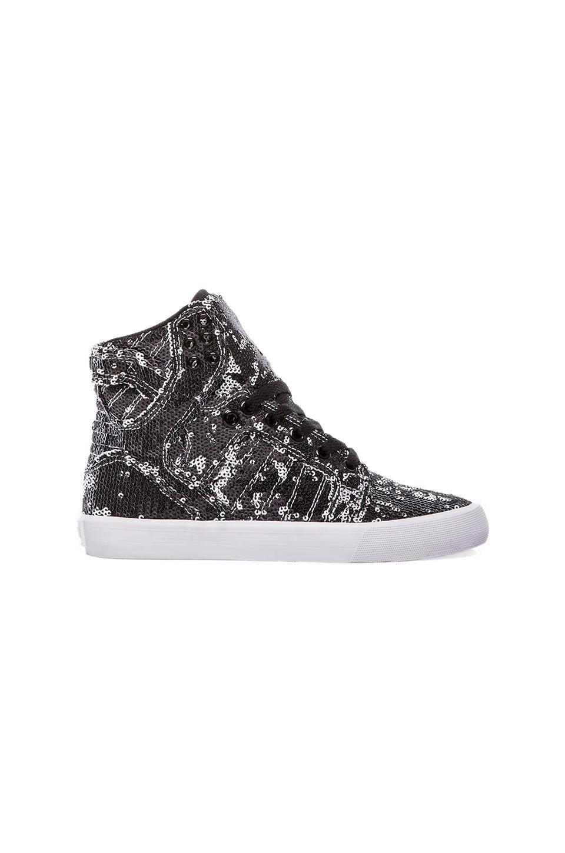 Supra Skytop Sneaker in White & White