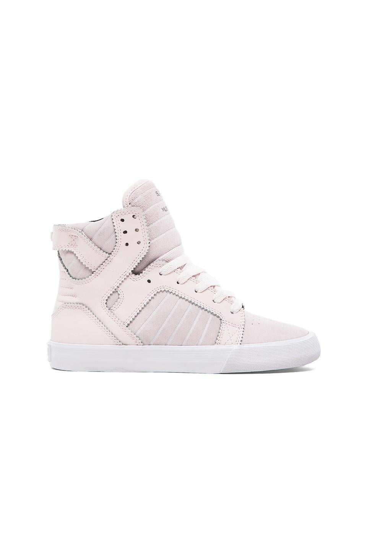 Supra Skytop Sneaker in Pink Blush Suede
