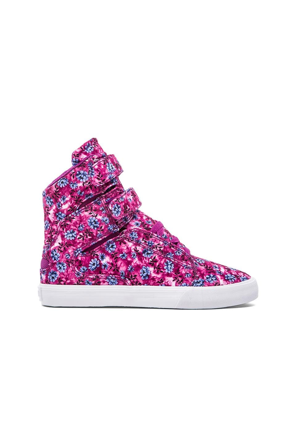 Supra Society Sneaker in Pink/Blue Orchid