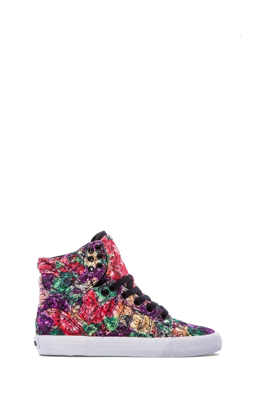 Supra Skytop Sneaker in Rainbow Floral