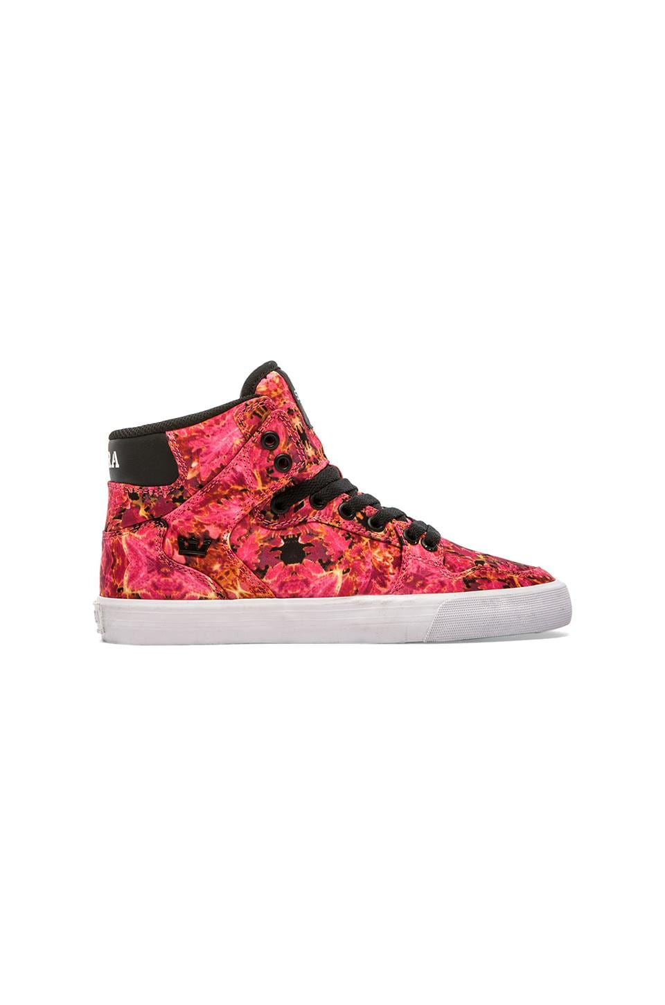 Supra Vaider High Top Sneaker in Pink Orchid