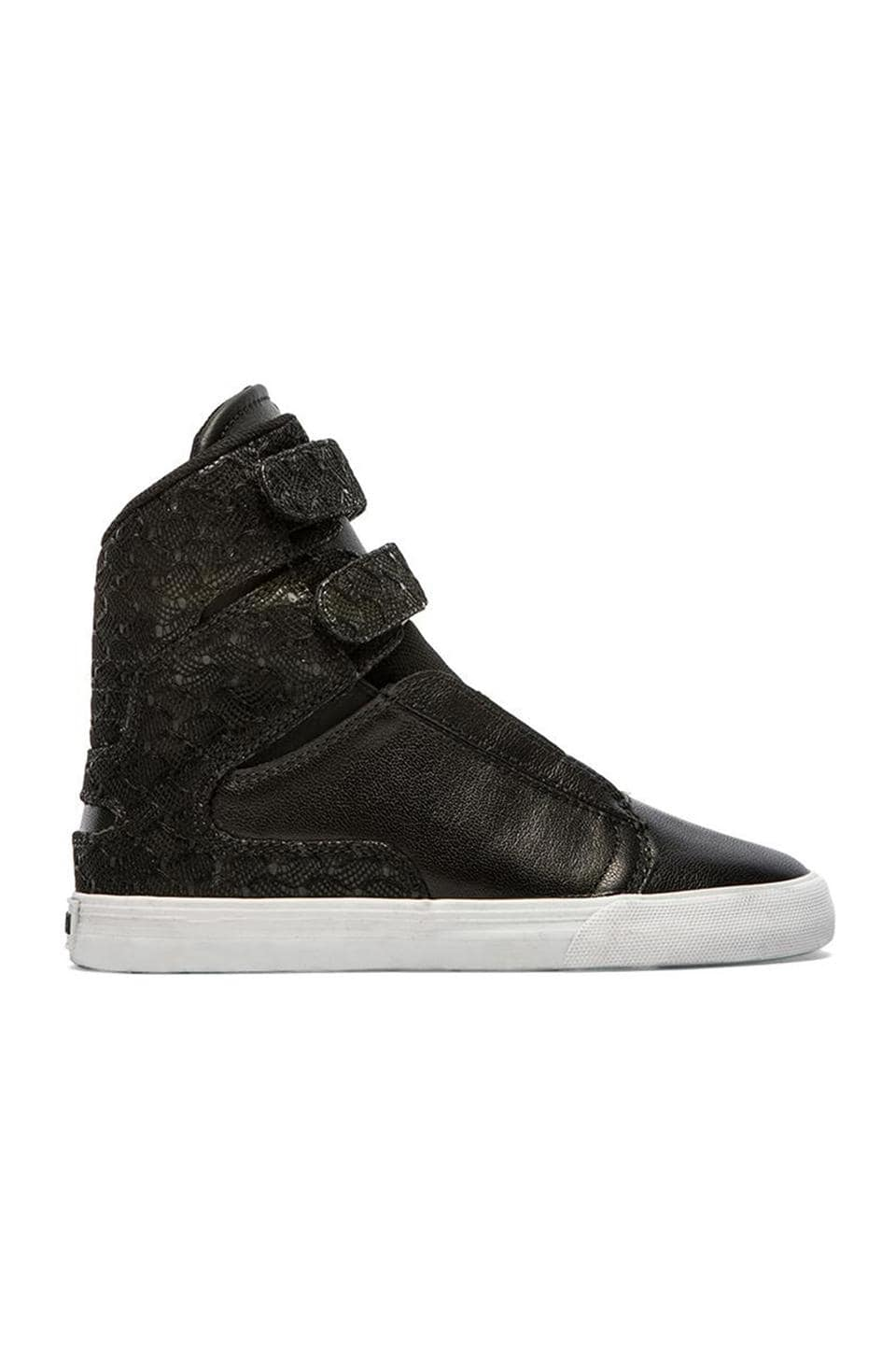 Supra Society II High Top Sneaker in Black Leather