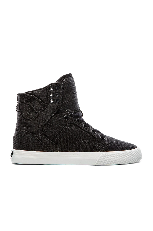Supra Skytop High Top Sneaker in Black