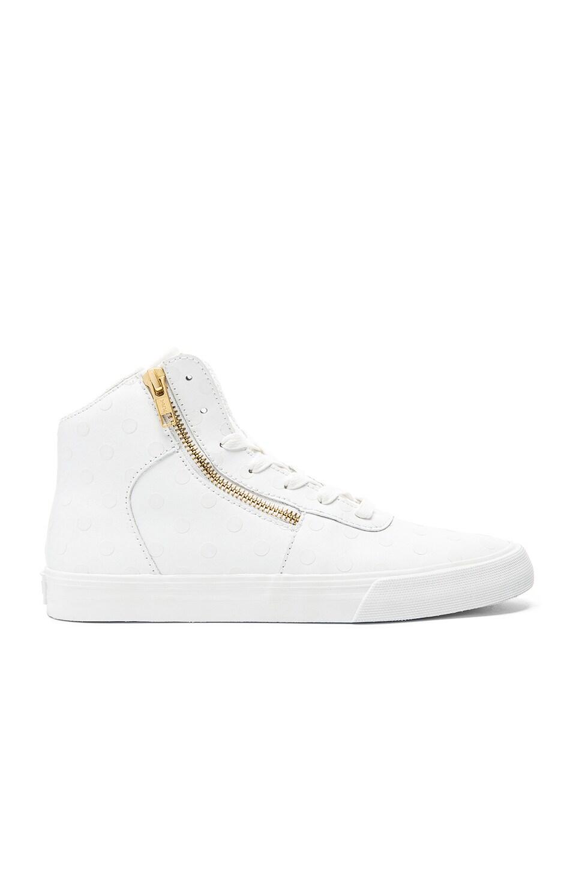 Supra Cuttler Polka Dot Sneaker in White