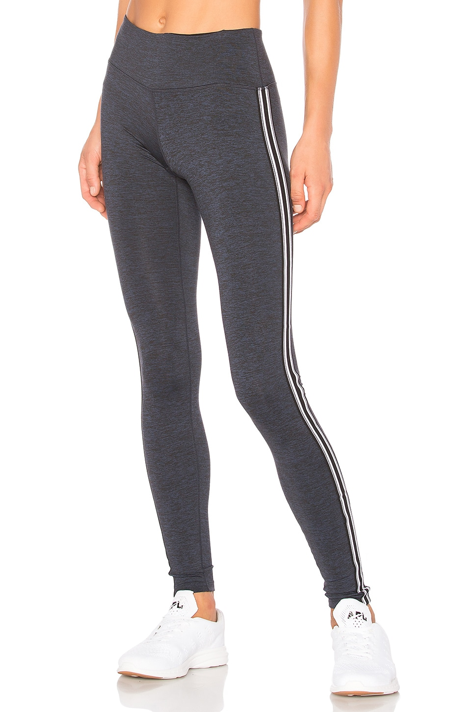 Spiritual Gangster Athletic Stripe Practice Legging in Navy