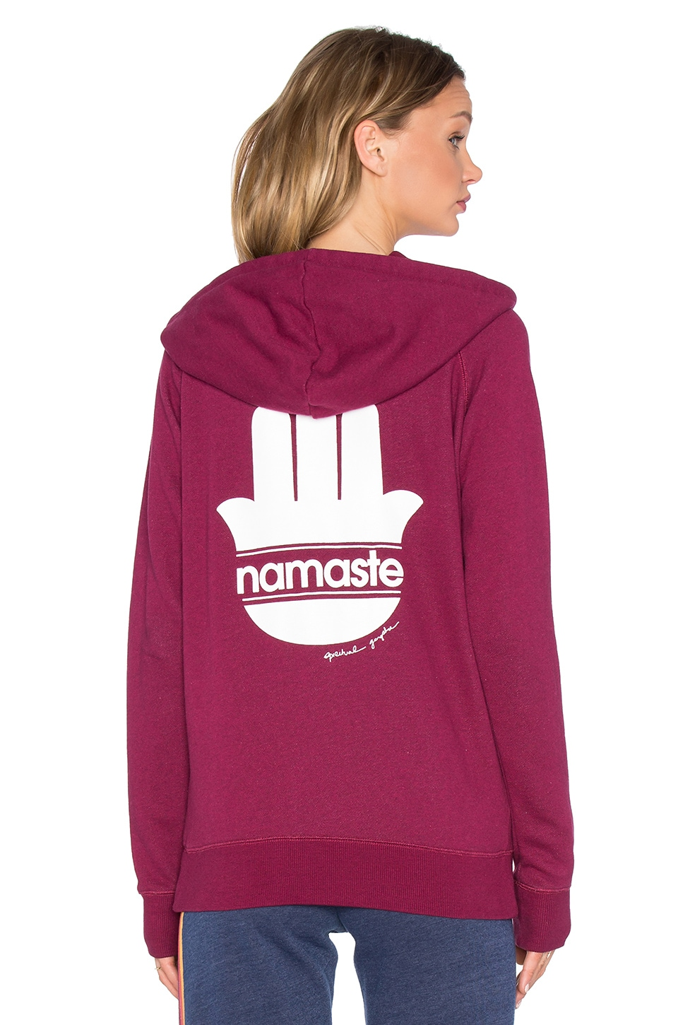Namaste Stripes Zip Hoodie by Spiritual Gangster