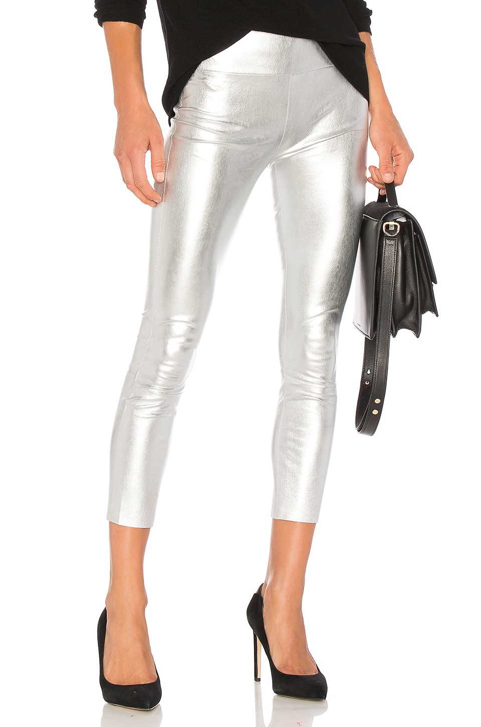 SPRWMN High Waist 3/4 Legging in Silver
