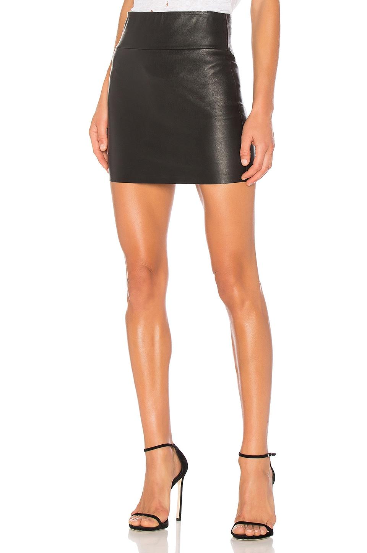SPRWMN Stretch Mini Skirt in Black