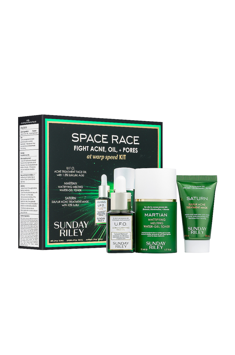 Sunday Riley Space Race Fight Acne, Oil, and Pores Kit
