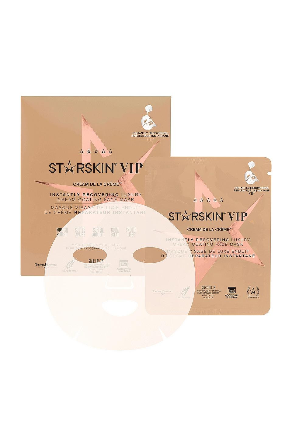 STARSKIN Cream de la Creme Instantly Recovering Sheet Mask