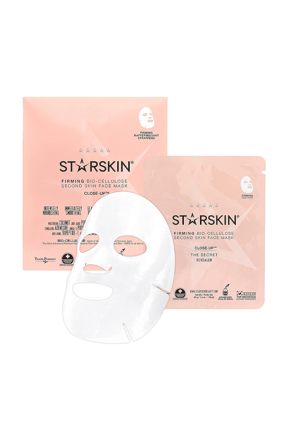 STARSKIN CLOSE-UP FIRMING BIO-CELLULOSE SECOND SKIN FACE MASK
