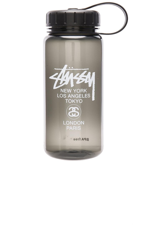 Stussy Stock Lock Water Bottle in Black