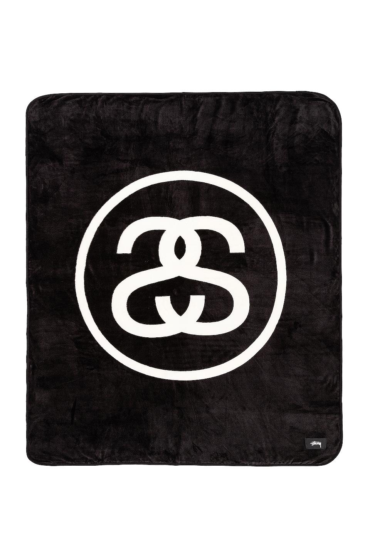 Stussy SS Link Fleece Blanket in Black
