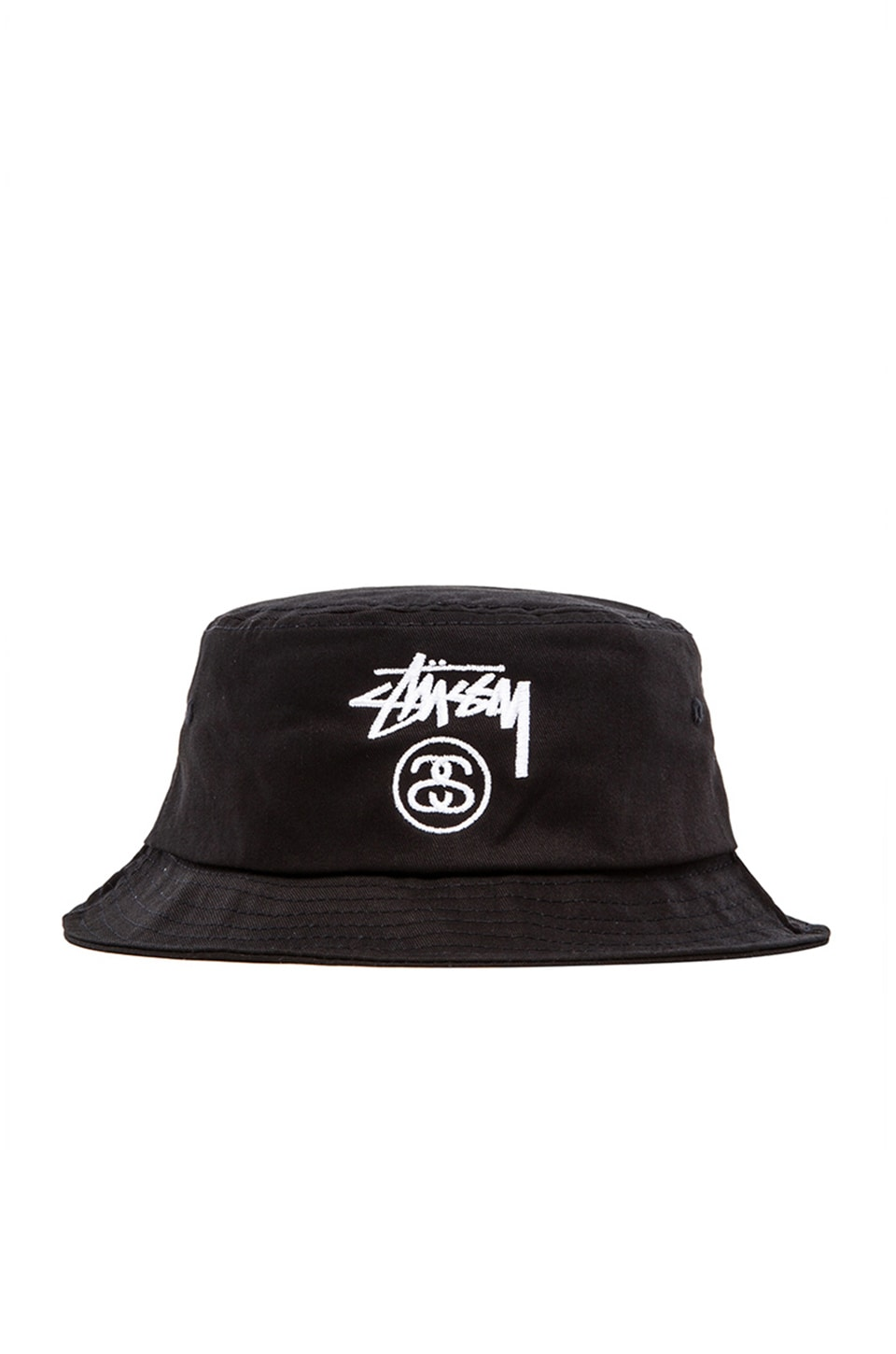 Stussy Stock Lock Bucket Hat in Black