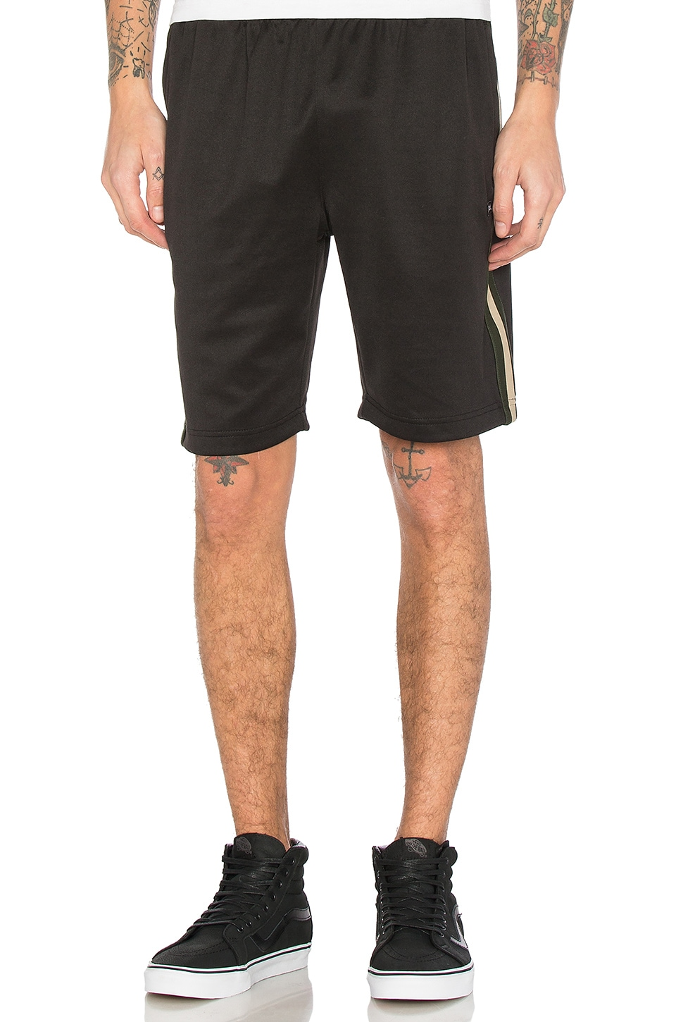 Stripe Rib Track Short by Stussy