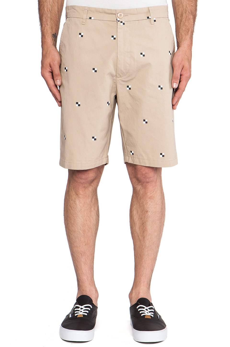Stussy Mini Check Short in Khaki