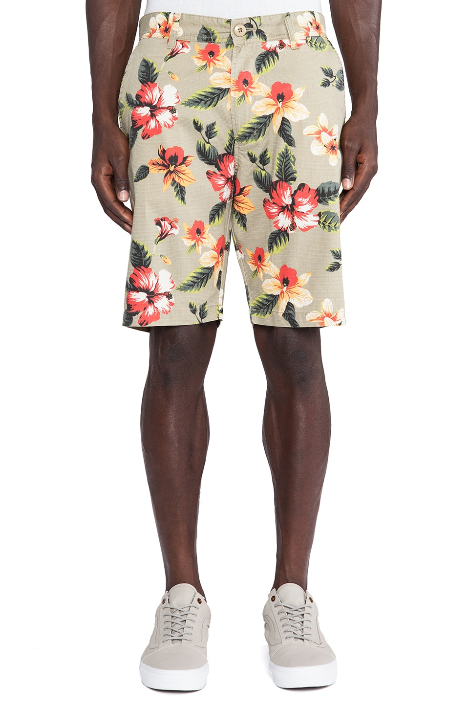 Stussy Vintage Flower Short in Khaki