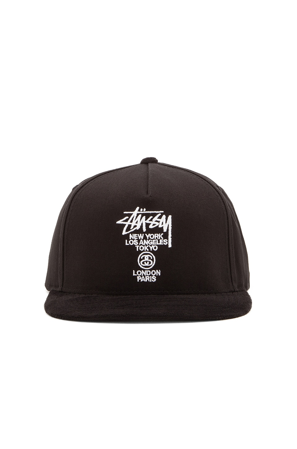 156e18954a6 Stussy World Tour Snapback in Black