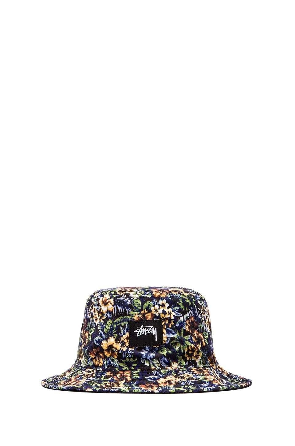 Stussy Island Reversible Bucket Hat in Black