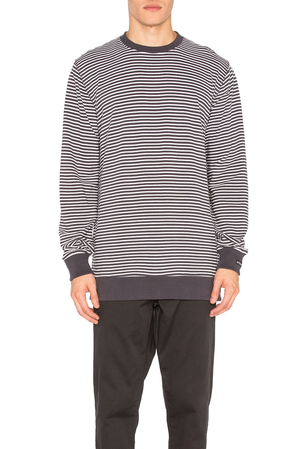 Curtis Stripe Crew by Stussy