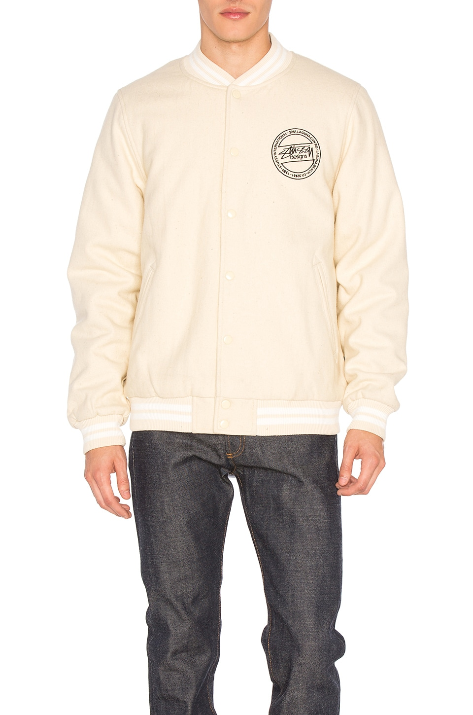 Stock Varsity Jacket by Stussy