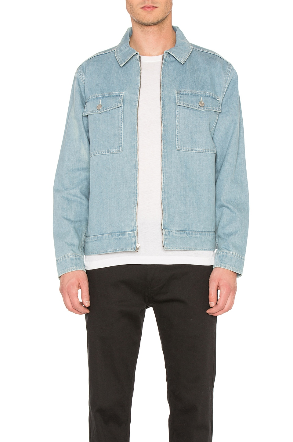 Washed Denim Garage Jacket by Stussy