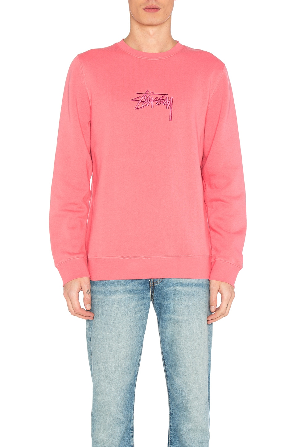 New Stock Applique Crew by Stussy