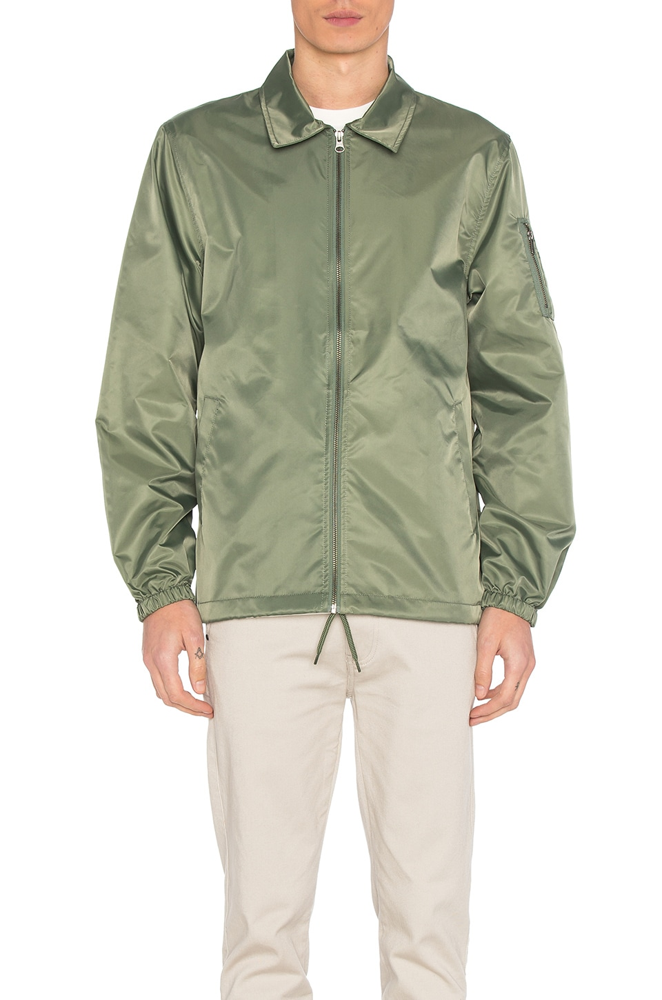 Flight Satin Coaches Jacket by Stussy