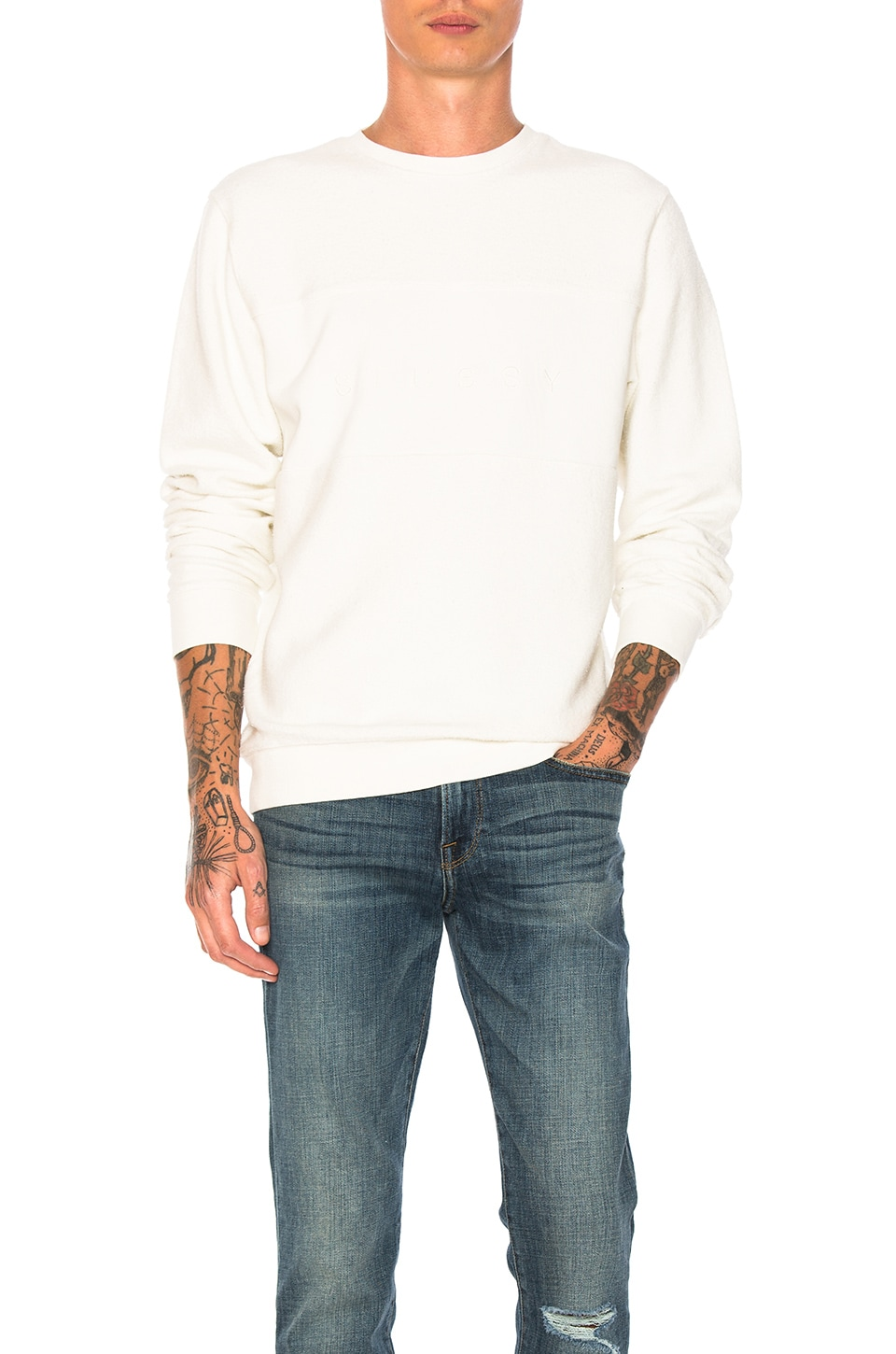 Reverse Fleece Panel Crew by Stussy