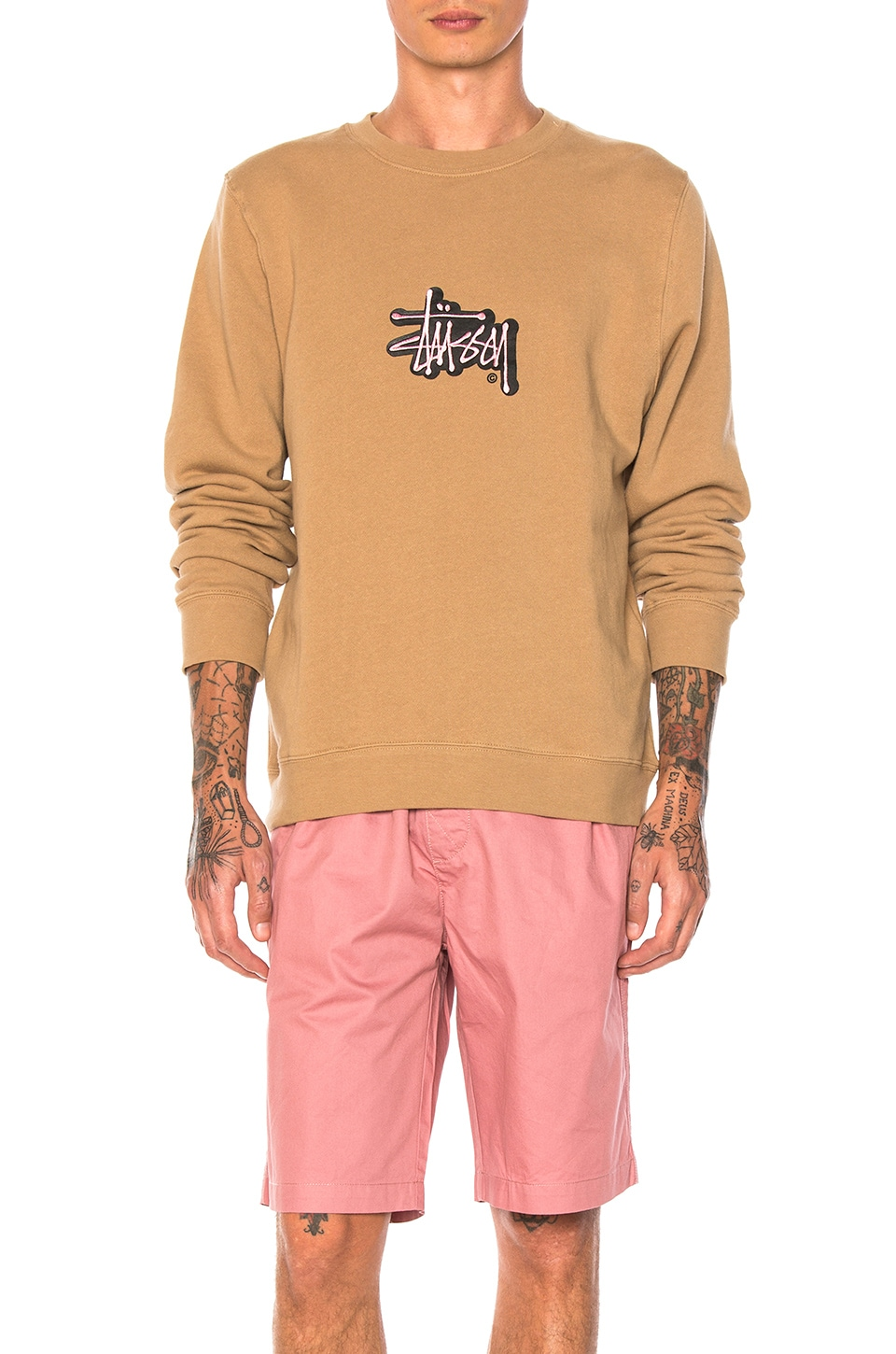 Shadow Stock Applique Crew by Stussy