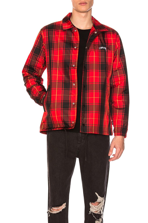 Stussy Red Cruize Coach Jacket