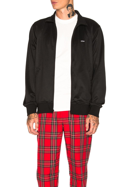 STUSSY Textured Rib Track Jacket in Black