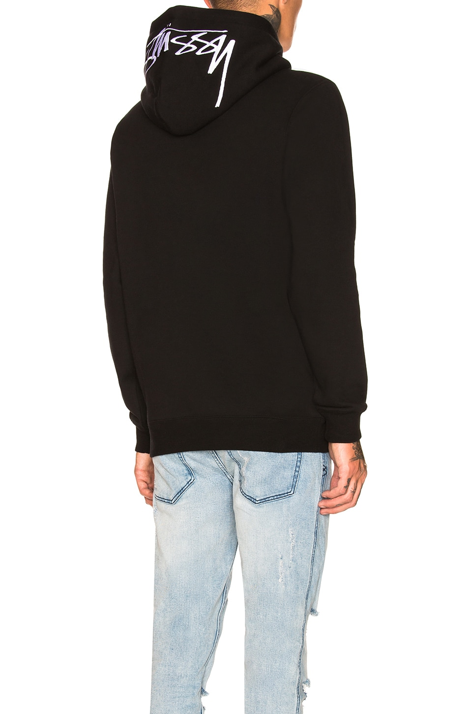 Stussy Smooth Stock Applique Hoodie in Black