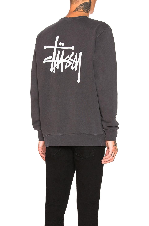Stussy Basic Crew in Black