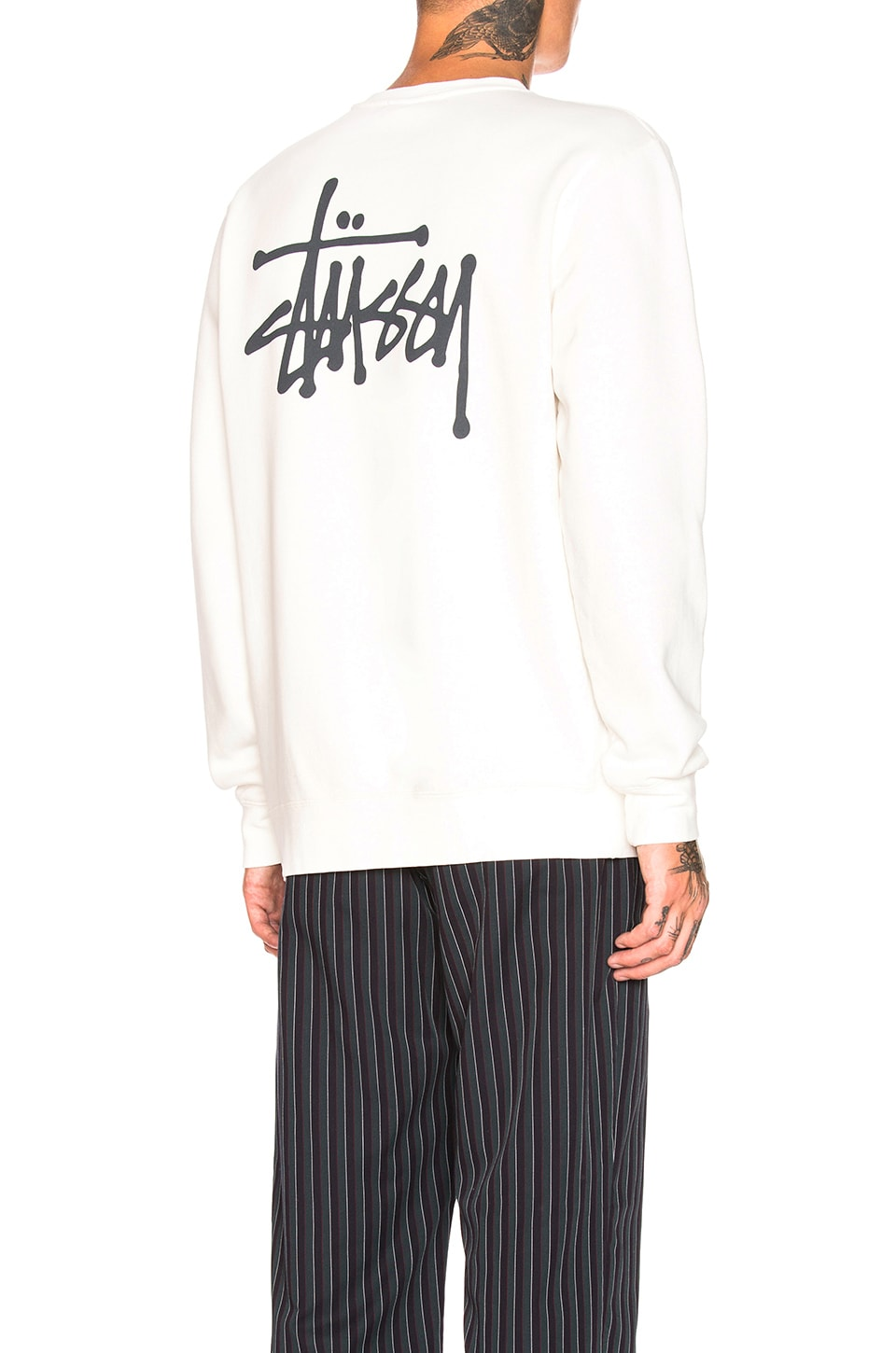 Stussy Basic Crew in Natural