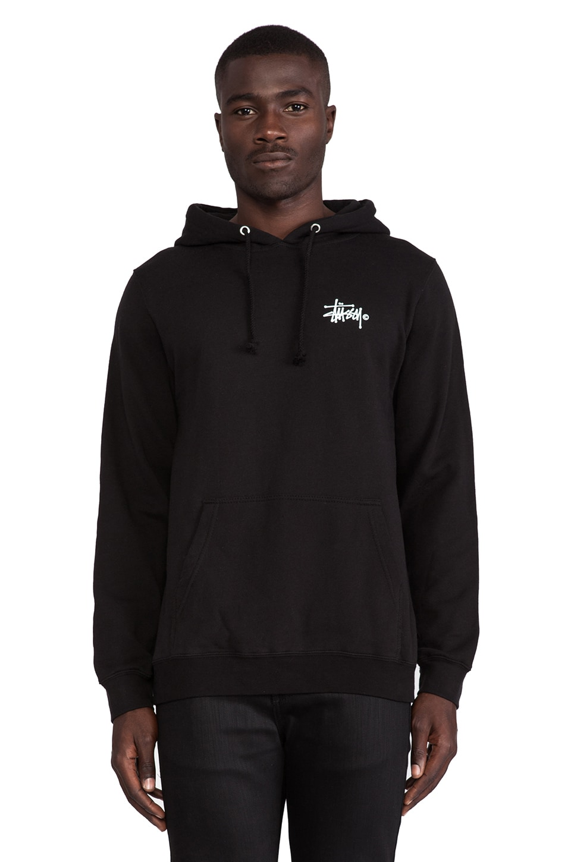 Stussy Basic Logo Hood in Black