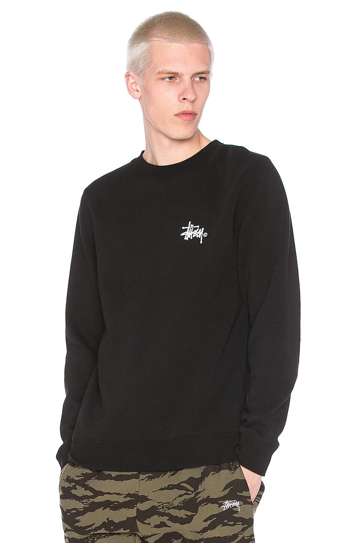 Stussy Basic Logo Crew in Black
