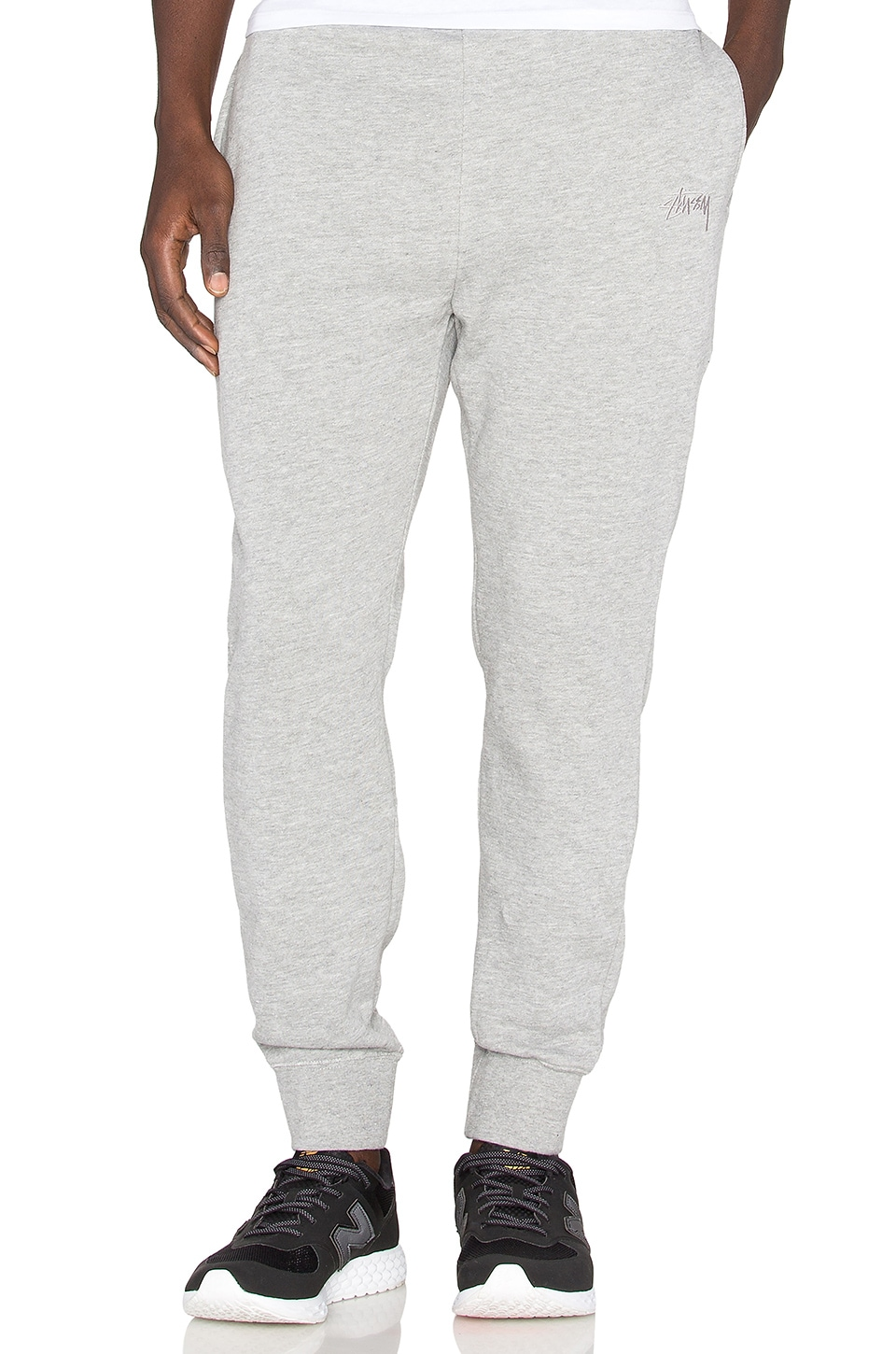 6b014abb7b Stussy Tonal Stock Fleece Pant in Grey Heather | REVOLVE