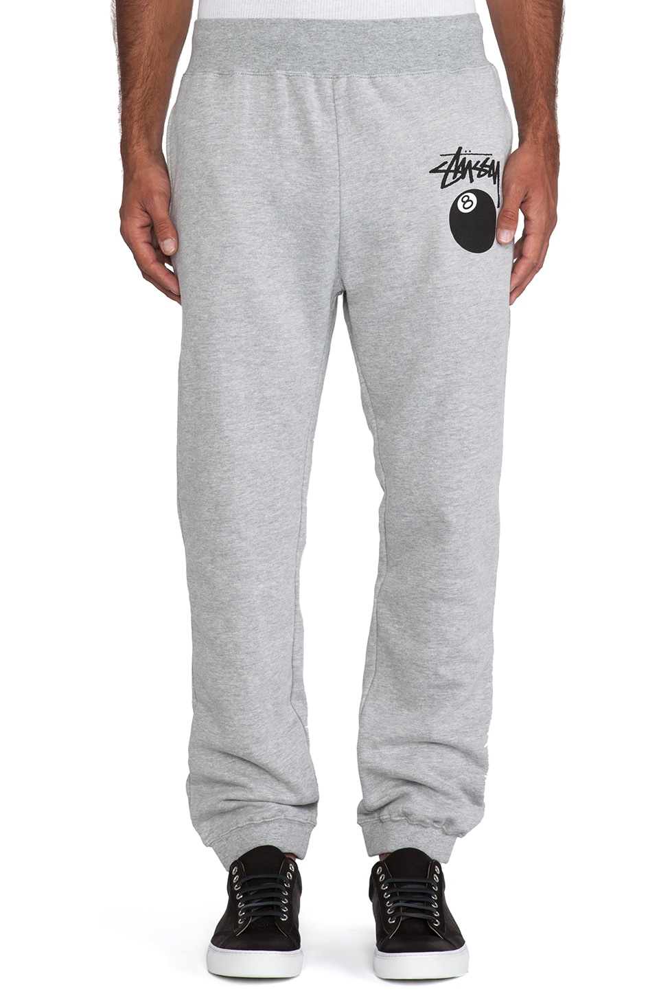Stussy 8 Ball Sweatpant in Grey Heather