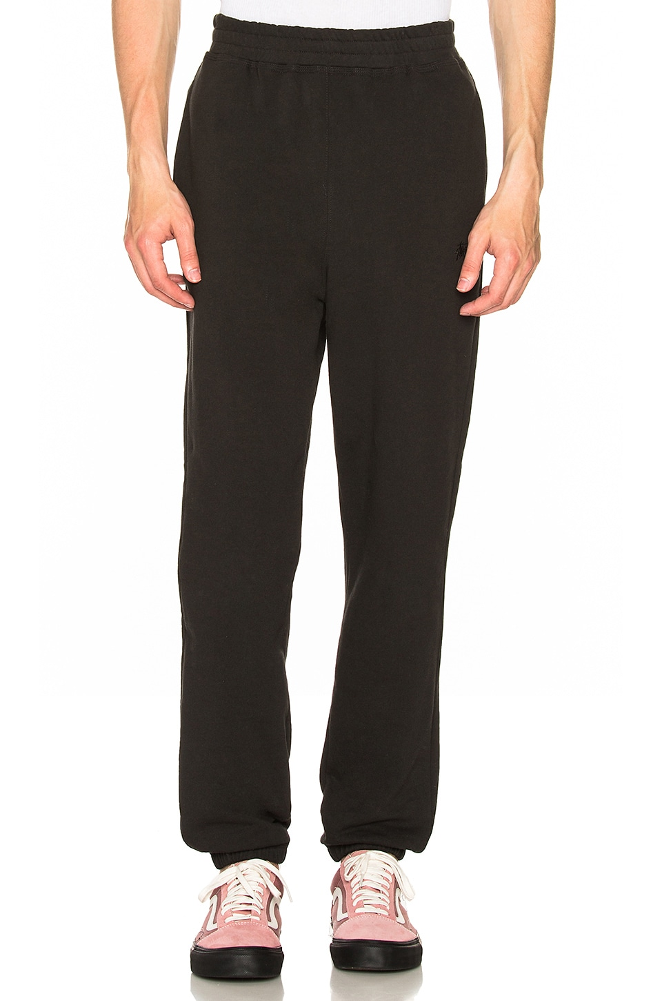 STUSSY Stock Terry Pant in Black