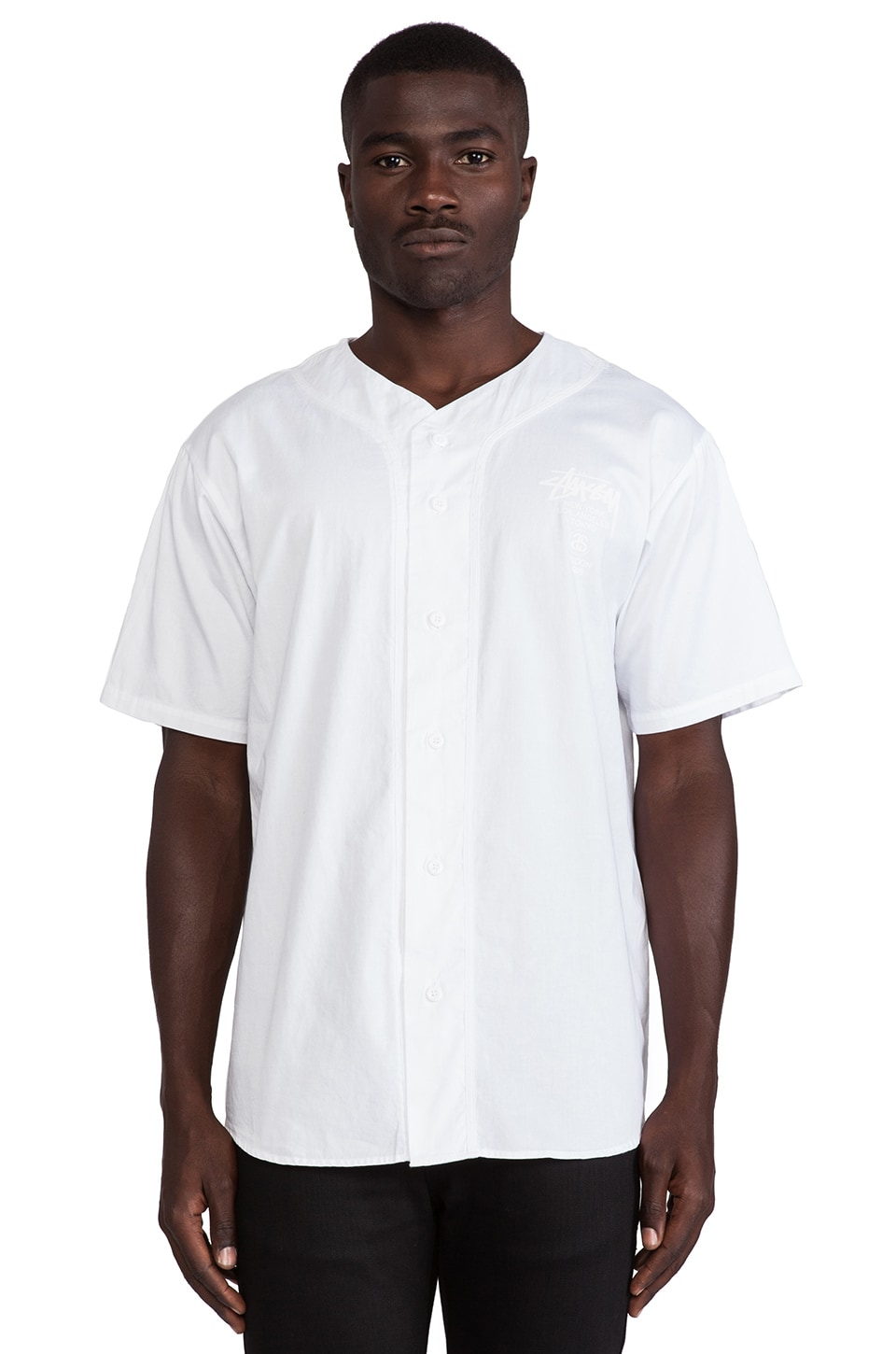 Stussy Baseball Shirt in White