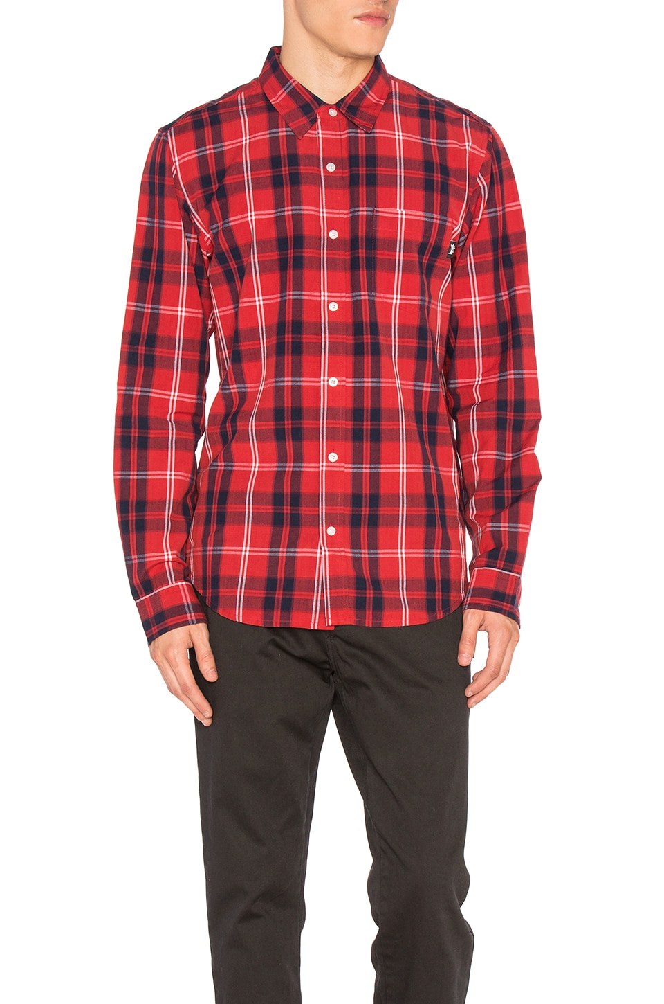 Penn Plaid Button Down by Stussy