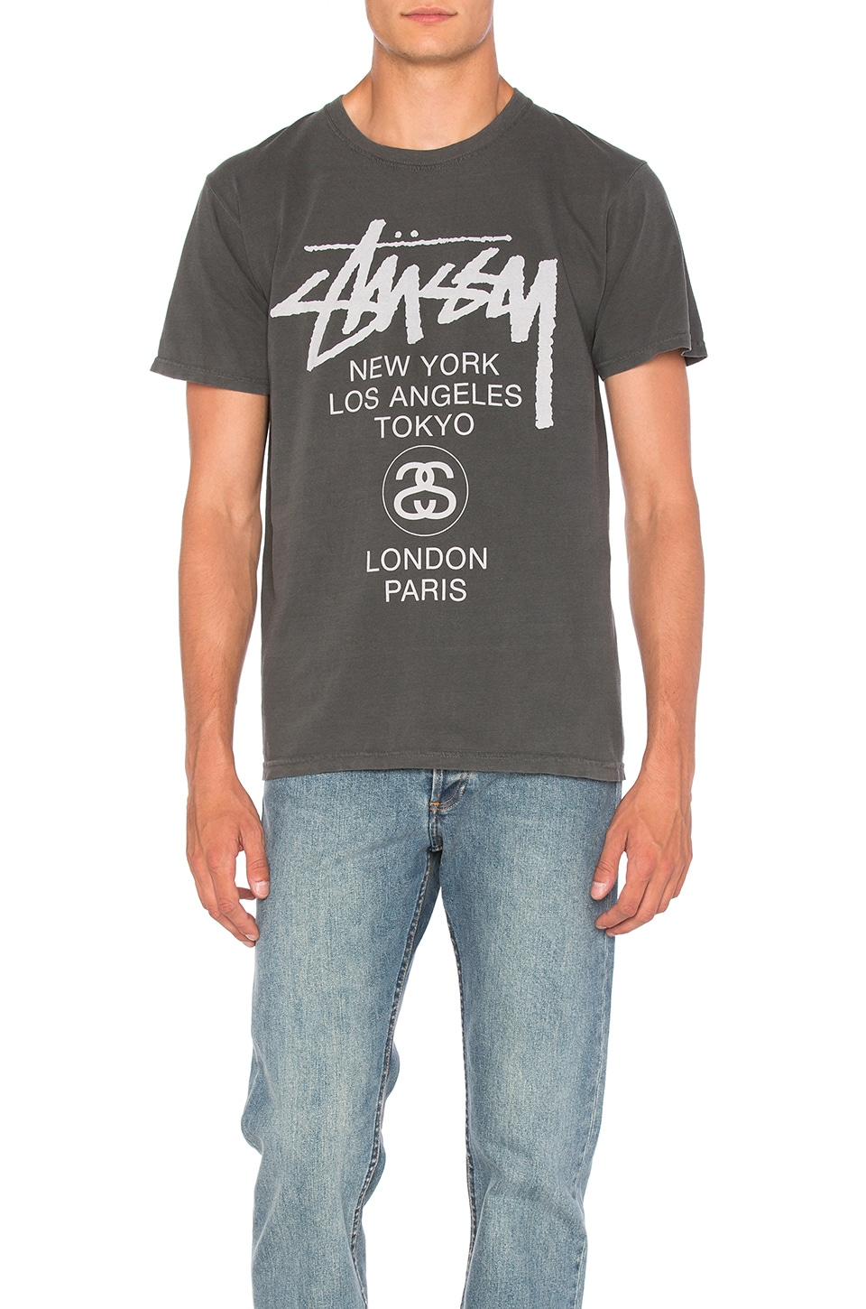 Stussy World Tour Tee in Black