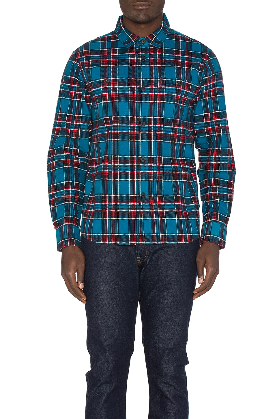 Double Brush Flannel Button Down by Stussy